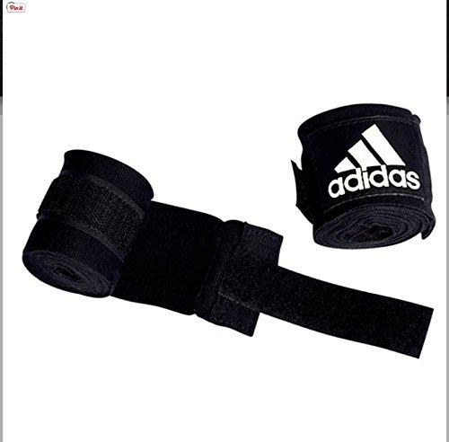 Adidas Boxbandage, gemäß ABA, 255–450 cm, Schwarz 255cm