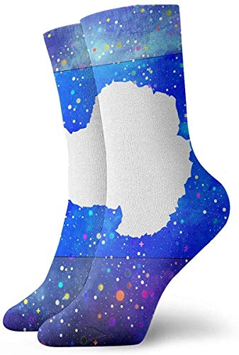 xinfub Antarctica Flag Starry Flag Crew Socks Casual Funny for Sports Boot Hiking Running Etc. Comfortable2384