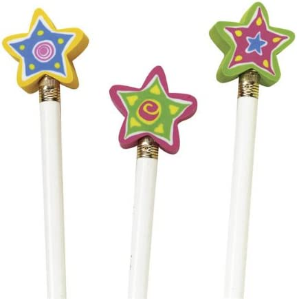 Shining Star Pencil 5 ☆ very popular Ranking integrated 1st place Top 144 of Eraser Package