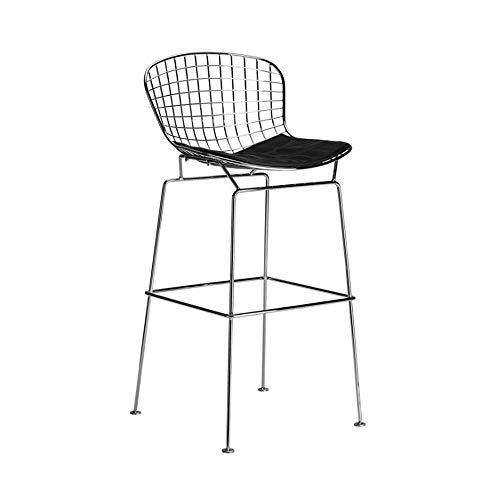 NAN liang Chaises de bar de fil, noir, fait de cadre en acier solide créant la chaise de bar de chaise de bar de tabouret haut simple occasionnel moderne décontracté, H60 / 70CM (taille : H62CM)