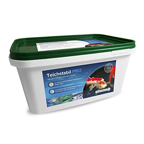 Profi-Vertrieb UG - Teichstabil Pro I optimale Teich-Pflege im Winter - stabilisiert den pH-Wert I für bessere Wasserwerte im Garten-Teich I speziell für Natur-Pool & Fischteich I Algenmittel 3,4 kg