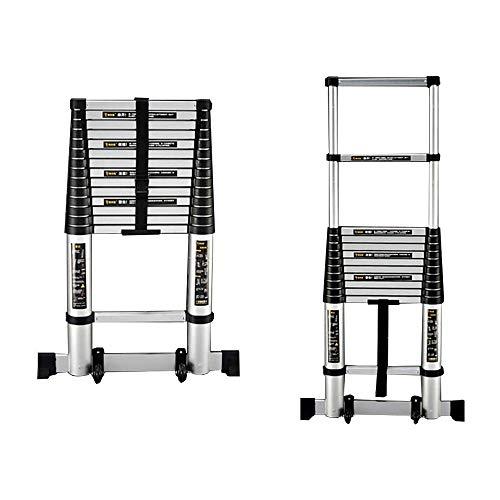JIACTOP Telescópico escaleras de Aluminio Extensión telescópica General Perfil portátil con Spring Loaded Mecanismo de Bloqueo (Size : 4.1m(13.4ft))