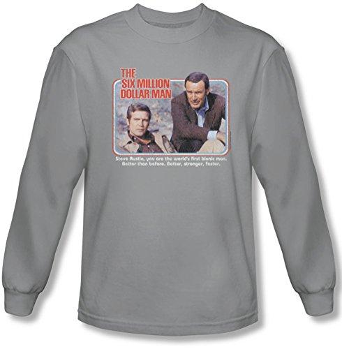 Six Million Dollar Man - La première shirt manches longues Homme En Argent, X-Large, Silver