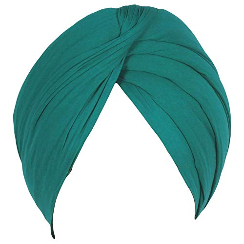 Sikh Cotton Turban for Men - Prussian Blue Color - Unstitched Punjabi Pagri - 5 Metre