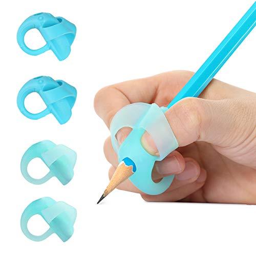 3Pcs 2-finger Griff Silikon Kinder Bleistifthalter Help Lernen Tool eNwrg