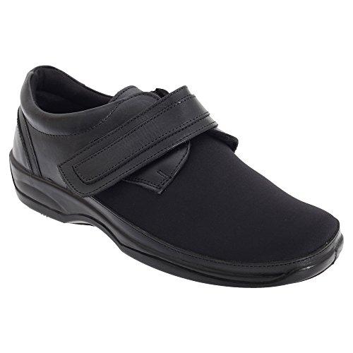 Mod Comfys - Zapatos cómodos elásticos de ancho especial para mujer