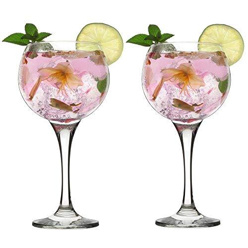 Unishop Set 2 Copas para Gin Tonic, 2 Copas de Combinado de Cristal, 79CL Apto para Lavavajillas