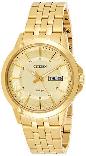 CITIZEN Herren Analog Quarz Uhr mit Edelstahl Armband BF2013-56PE