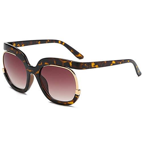 YHKF Gafas De Sol Lentes Degradados Gafas De Sol Moda para Mujer Tonos Femeninos Retro Uv400 Gafas De Sol-A