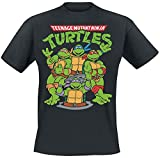 Teenage Mutant Ninja Turtles Group Männer T-Shirt schwarz L