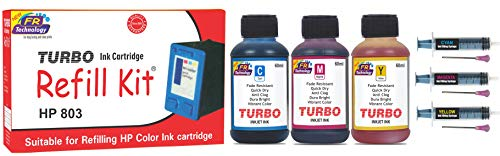 Turbo ink cartridge Refill Kit Suitable for hp 803 tri Color Ink Cartridge