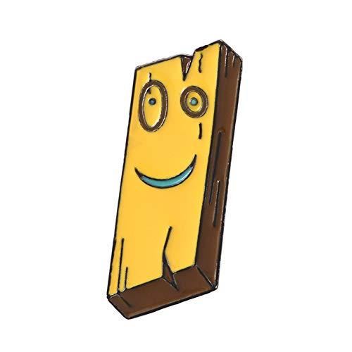 JTXZD broche Cartoon Schattige Plank Ed Edd Eddy Emaille Pins 90s cartoons broches Lapel pinnen Emaille pinnen Kindertijd