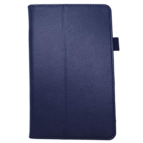 MLXG For Amazon Fire HD 7 2015 Tablet PU Leather Case Stand Cover (Dark blue)