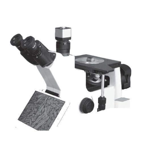 GAOTek Inverted Trinocular Metallographic Microscope, Discern&Analyze Organizational Structure For All Metals, Digital Imaging, LEDLight Illumination, Observation Method: Inverted/Bright Field|MEM-106
