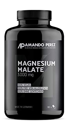 Magnesium Malate 3.000 mg pro Portion • 180 vegane Tabletten • Hochdosiert • Made in Germany