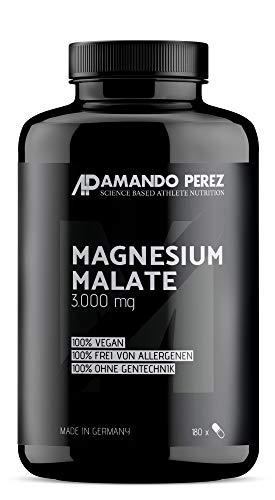 Magnesium Malate 3000 pro Dosis - 180 Vegane Tabletten