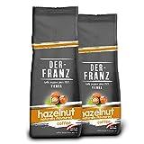 DER-FRANZ - Café aromatizado con avellana natural, molido, 500 g (paquete de 2)