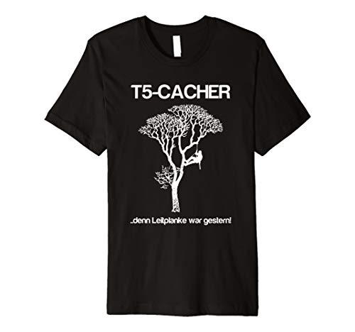 Geocaching und Klettern - T5 Shirt für Geocacher