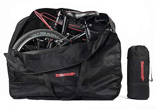 """KOSSJAA Faltrad transporttasche Tragetasche Fahrrad Reisen 20 Zoll Tasche Bike Koffertasche (Schwarz 20\"""")"""