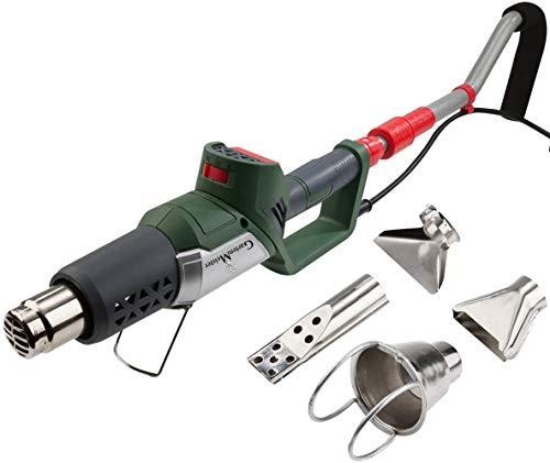 GartenMeister 3in1 Heissluft-Unkrautvernichter Unkrautbrenner Heißluftpistole Grillanzünder teleskopierbar elektrisch ohne Gas