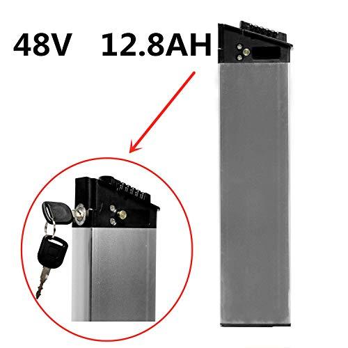 LANKELEISI Batería Oculta 48V 12.8AH para Bicicletas eléctricas. Batería de Repuesto de biciclo eléctrico ebike e-Bicyle