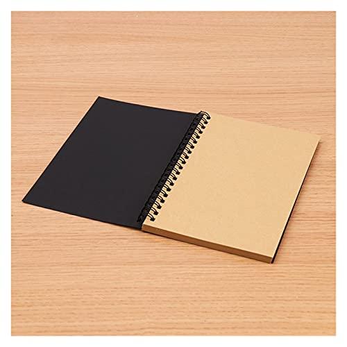 Retro espiral bobina Sketchbook Kraft Papel Cuaderno Bosquejo Pintura Diario Diario Diario Estudiante Nota Pad Book Memo Sketch Pad (Color : A)