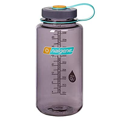 Nalgene Tritan Wide Mouth BPA-Free Water Bottle, Aubergine, 32 oz
