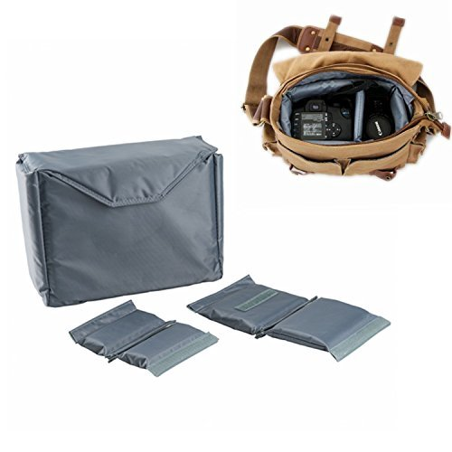 G-raphy Camera Case DLSR SLR Insert Case Bag Portable Inner Bag Waterproof Shockproof for Mirrorless Cameras , Lenses , Nikon, Canon, Sony,Panisonic and etc