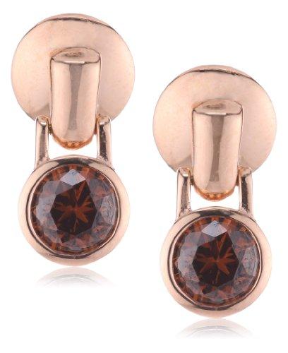 Joop Damen-Ohrstecker Silber vergoldet Zirkonia Meryl braun JPER90301C000