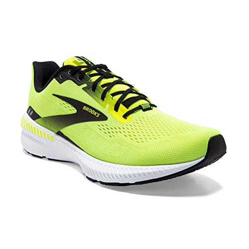 Brooks Launch GTS 8, Scarpe da Corsa Uomo, Nightlife/Black/White, 42.5 EU