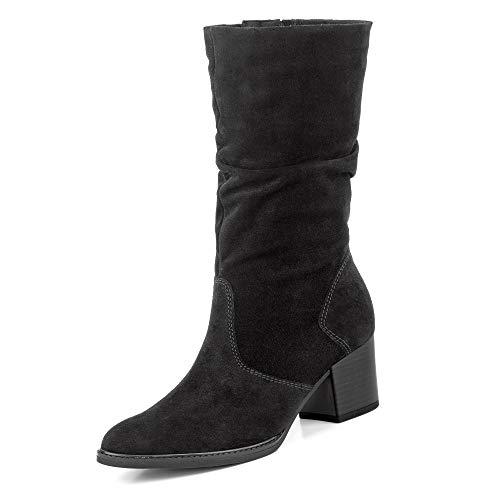 Gabor Comfort Gabor 32.894 Damen Comfort Stiefel aus Veloursleder mit Textilinnenausstattung, Groesse 42, schwarz
