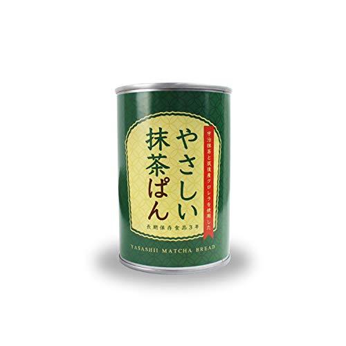 やさしい抹茶ぱん(缶詰)/パン 缶詰 カップ ケーキ 非常食 防災//