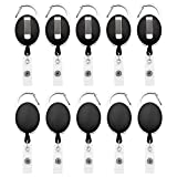 Fushing 10 Karabiner ID Card Badge Clips mit Gürtel Clip Spulen mit Badge Holder Clips Halter Clips...