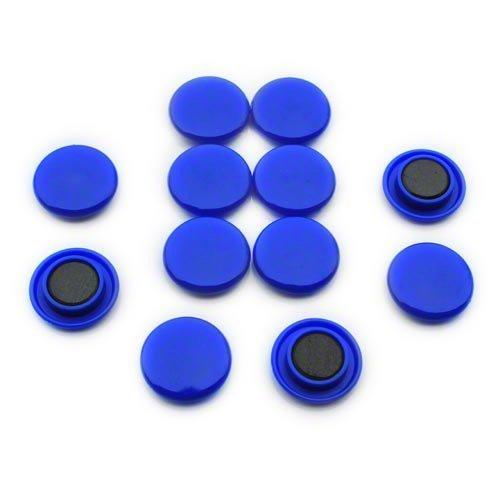 First4magnets F4M30-BLUE-1 Middelgrote blauwe uithang/planningsmagneet (30 mm diameter x 8 mm hoog) (1 verpakking van 12), zilver, 25 x 10 x 3 cm, stuks