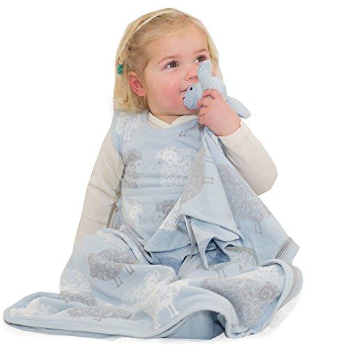 Merino Kids Sac de couchage pour bébés 0-2 ans, Ciel imprimé mouton