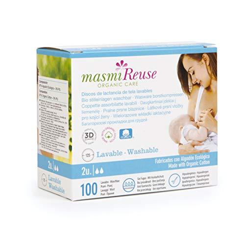 Masmi Discos de Lactancia de Tela Lavables 100 g