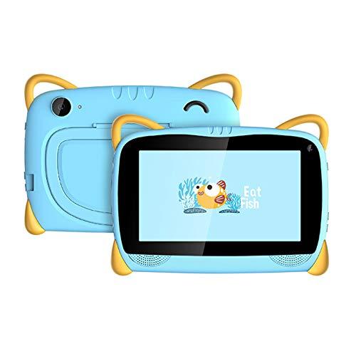 HJGHY Tableta para Niños Tableta con WiFi Android 6.0 de 7 Pulgadas para Niños Pequeños con Estuche de Prueba y Soporte Tableta de Aprendizaje para Niños para la Escuela en Casa,Azul