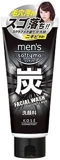 KOSE Men's Softy Mo Facial Wash, 0.5 Pound Charcoal