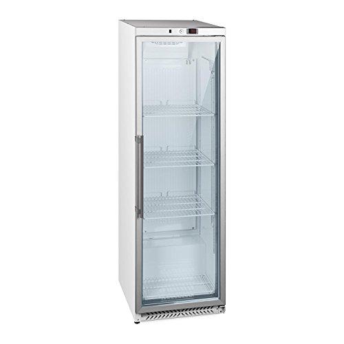 Royal Catering Frigo À Boissons Réfrigérateur Bar Vitrine RCGK-W400 (391 L, 215 W, 3 étagères, Porte verrouillable, Températures 0-8 °C)