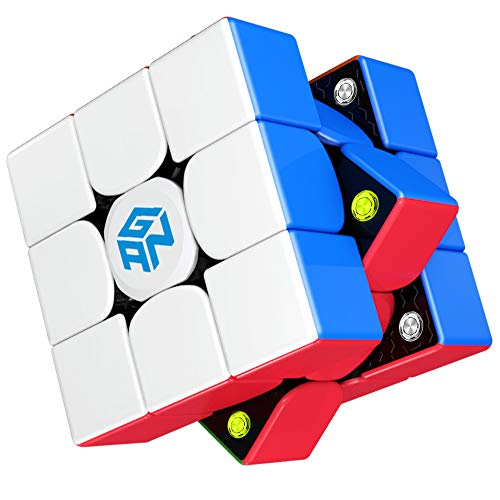 Gan 356 M Speed Cube, 3x3 Magnetic Magic Cube, Lite Version, 3x3x3 Gans 356M Puzzle Cube Toy Gift for Kids Children Adults, Lightweight (Stickerless)