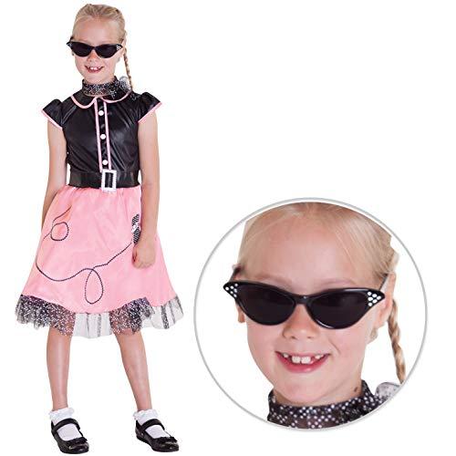 Morph Disfraz de Baile para niñas de los años Cincuenta - Grande - (10 - 12 años)