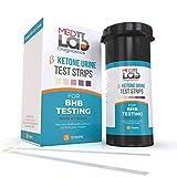 Ketone Testing Kit Strips for Keto Urine BHB Test (25 Cnt) Made in USA. No Need for Keto Blood Monitor. First Urine BHB Ketosis Test Kit for Keto Adapted. Exogenous Ketones Testing
