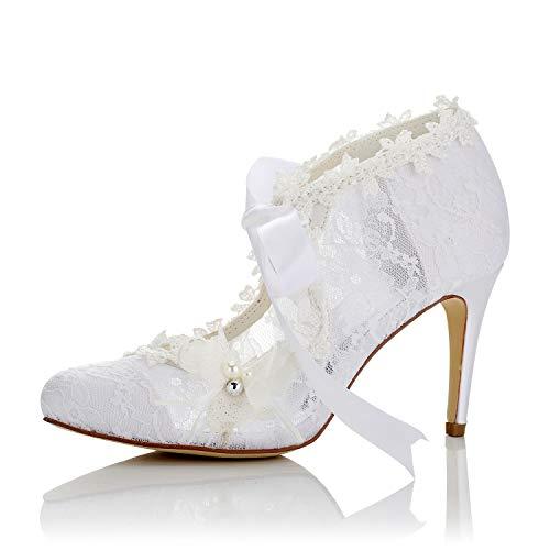 JIA JIA Zapatos de Novia de Las Mujeres 16798 Bombas de Satén...