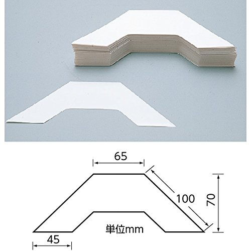 埼玉福祉会 SAIFUKU ブックエッジパッド 100枚入り 本の背ラベル保護用透明シール(2100-6201)