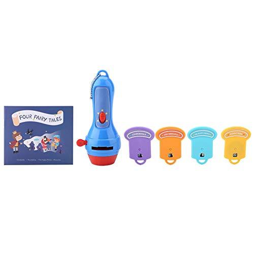 Kinder Geschichte Taschenlampe Projektor Spielzeug Schlafende Bettwäsche Geschichten Projektor Fackel Kinder Pädagogisches Projektor Spielzeug