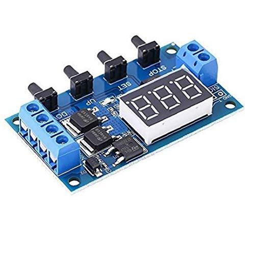 Interruptor temporizador relé de retardo MOS En desactivación del temporizador con el tubo de pantalla digital de Shell protector para el hogar inteligente de control automático de alta precisión