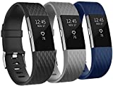 Rapidotzz Pack of 3 Belts/Straps for Charge 2 Compatible for Fitbit Charge2 Bands