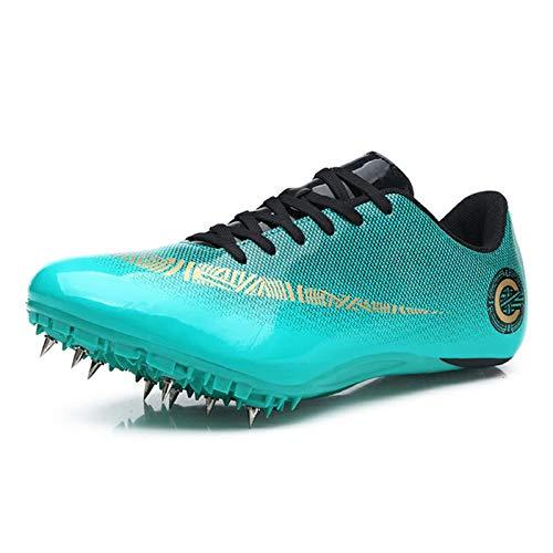 X/L Zapatillas de Atletismo Spikes Hombre Mujer Zapatillas de Correr a Distancia Zapatillas de Carrera de Atletismo atlético con Clavos Niños Niñas (Color : K, Size : 8 UK)
