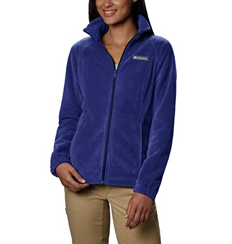 Columbia Plus Size Benton Springs Full Zip Jacket Giacca Pile, Dinasty, 1X Donna