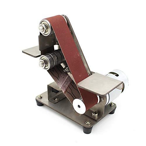 KKmoon Mini lijadora de banda,Lijadora de arena,Máquina lijadora de escritorio,Lijadora eléctrica,Máquina pulidora...